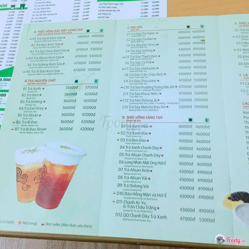 menu-gong-cha-giang-vo-ha-noi
