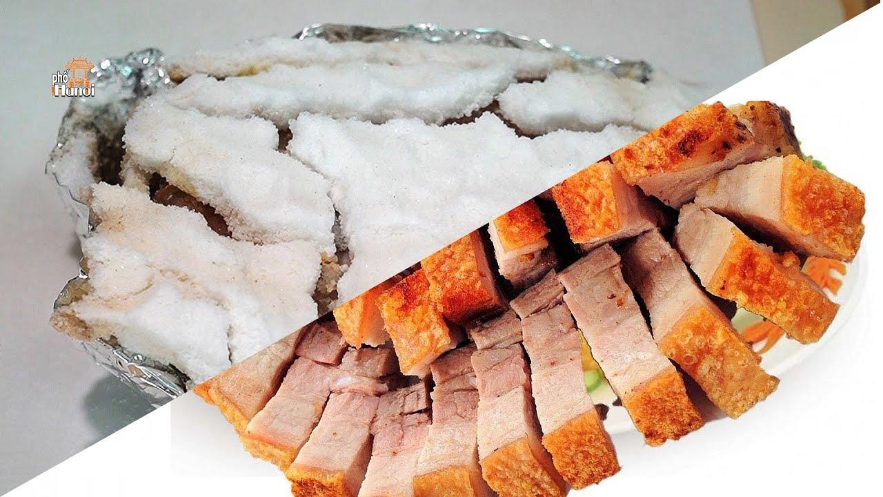 Cách làm Thịt Heo quay giòn bì bằng muối đơn giản mà ngon #hnp