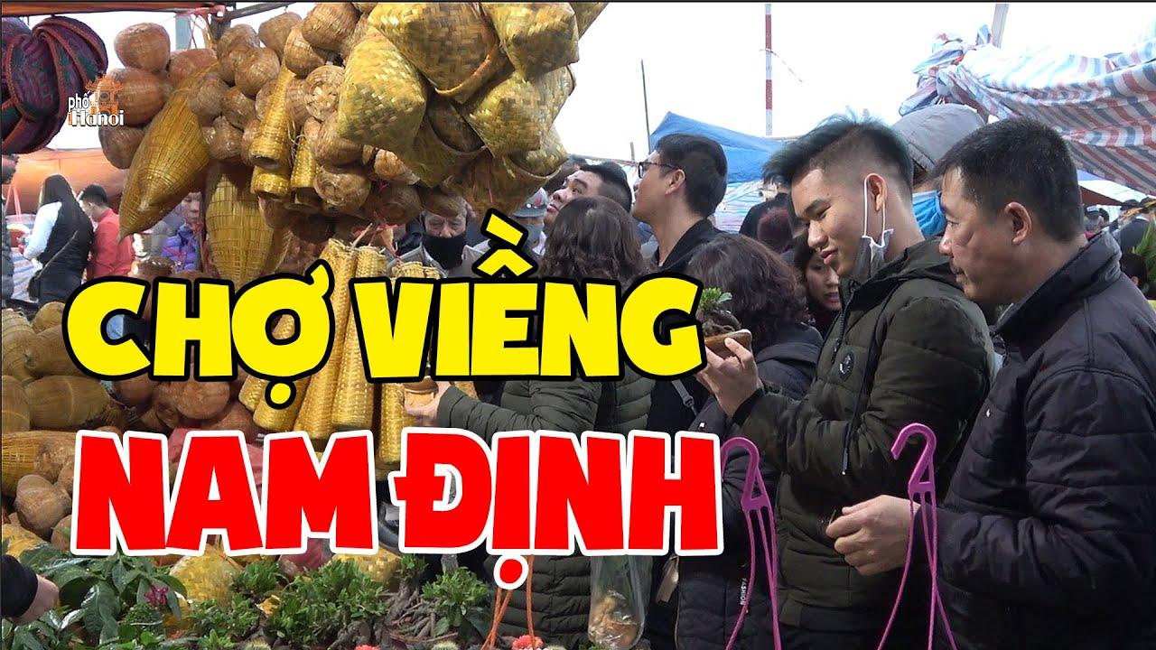 Hàng ngàn người tìm về chợ Viềng Nam Định để mua hàng cầu may đầu năm #hnp