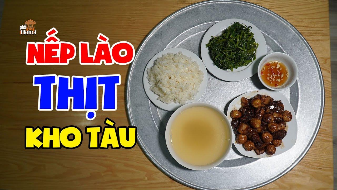 Làm Thịt Kho Tàu Với Trứng Nhừ Nhanh Với Nồi Áp Suất Kèm Xôi Nếp Lào #hnp