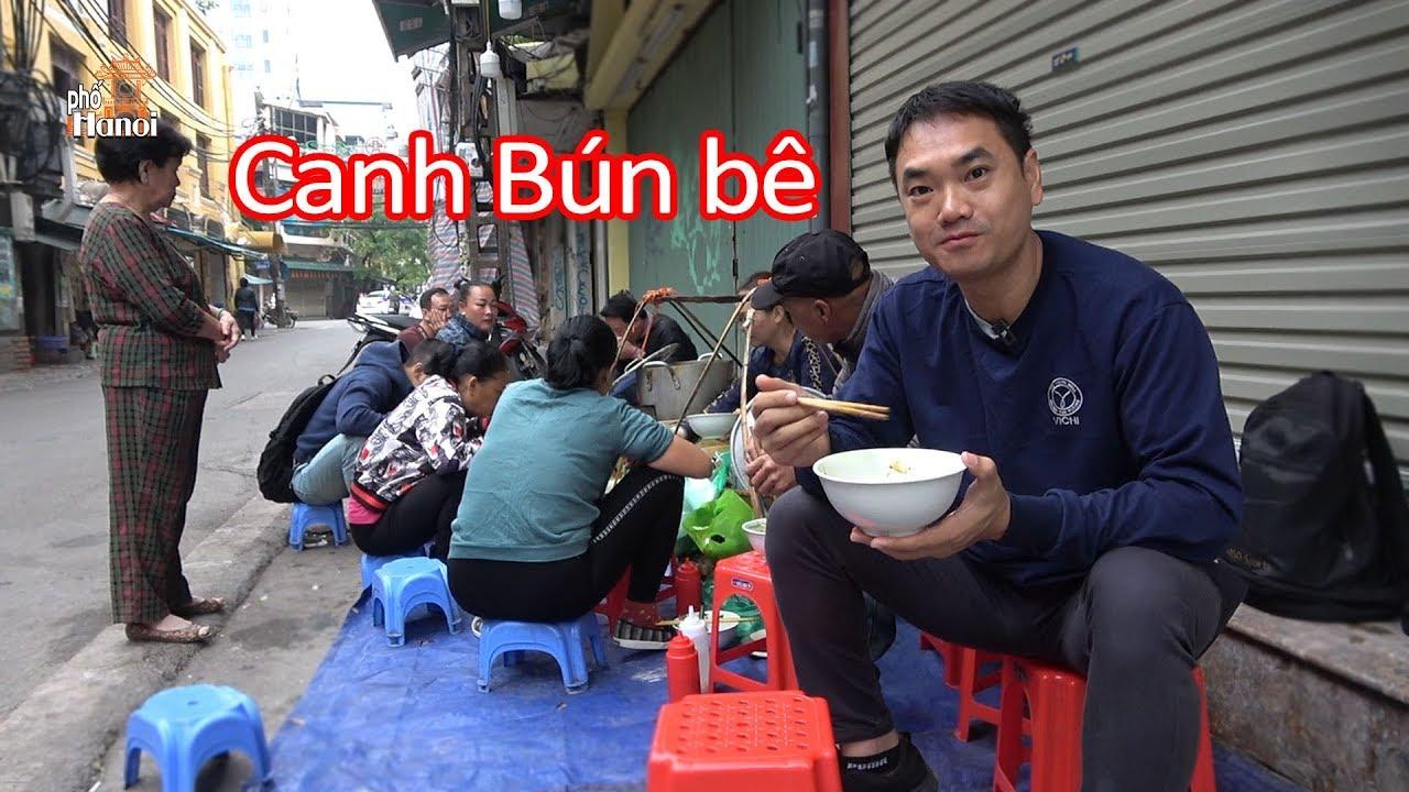 Ngon khó cưỡng với Bún Canh Cá gánh phố cổ chỉ bán 3h tại Tạ Hiện Hà Nội #hnp