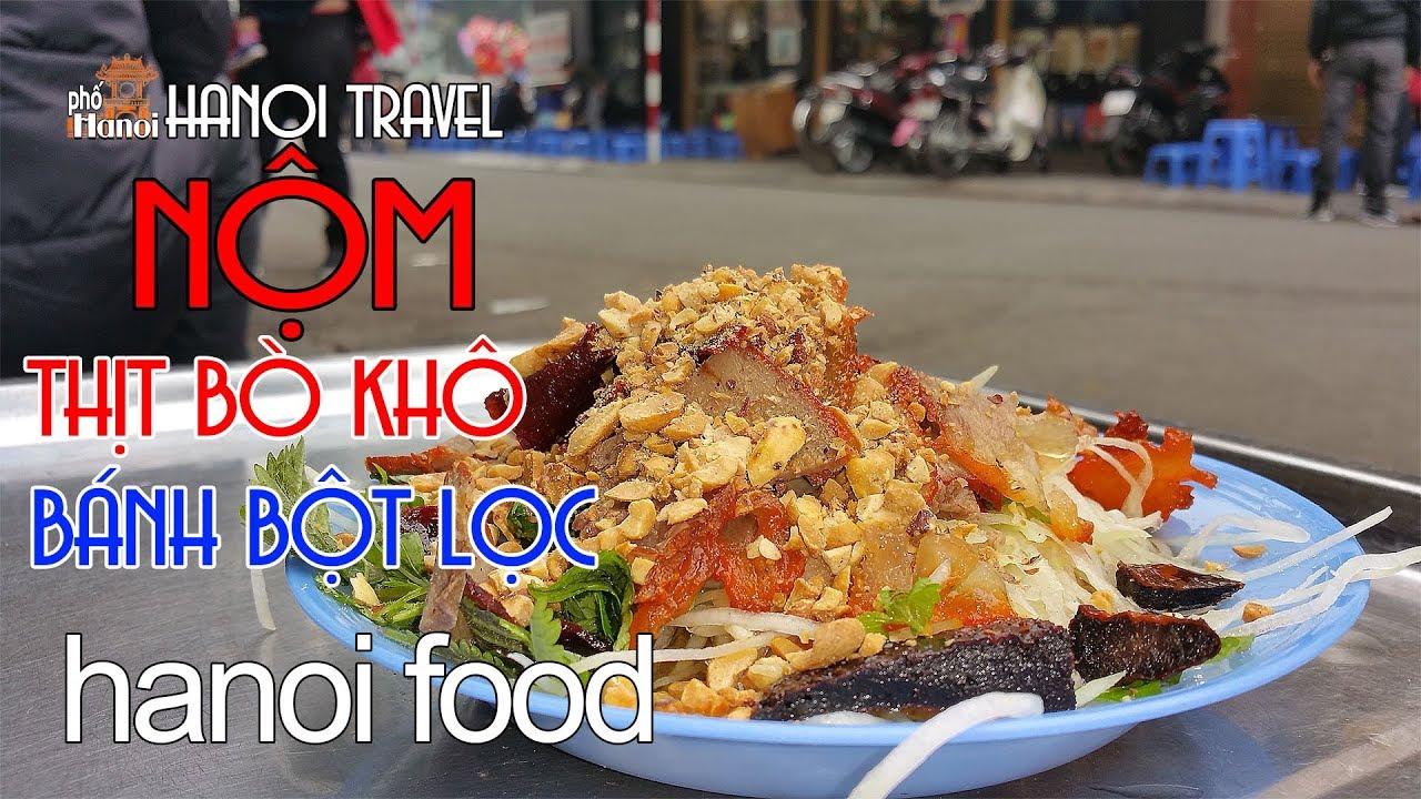 Nộm Thịt Bò Khô phố cổ  Hồ Hoàn Kiếm #hnp