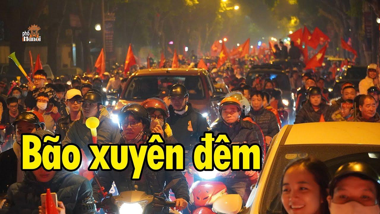 U22 Việt Nam vô địch CĐV Hà Nội bão xuyên màn đêm ngoài phố #hnp