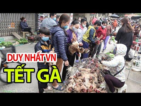 Cả Làng Đi Chợ Đầu Xuân Để Ăn Tết Gà | Độc Đáo Tại Canh Nậu Thạch Thất #hnp